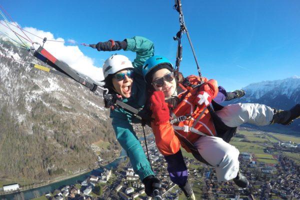 Interlaken Winter Paragliding Wonderland Winterlaken - Copy